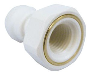 """3/8"""" Polypropylene Female Straight Adapter - Compression x FPT"""