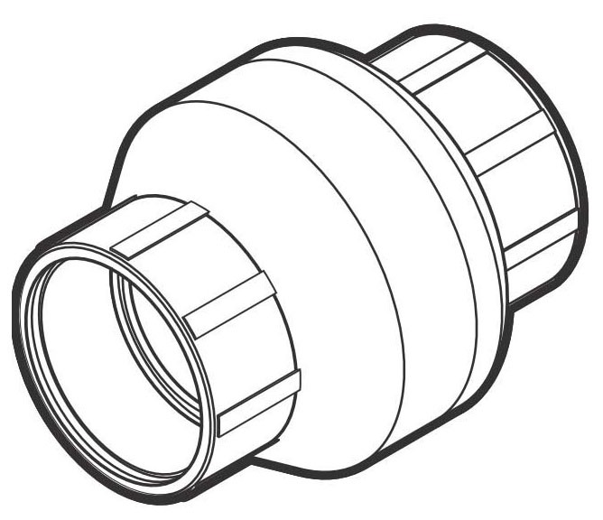 "1-1/4"" PVC Swing Check Valve - ProGuard, SCH 40, Solvent Weld Socket, 235/150 psi"
