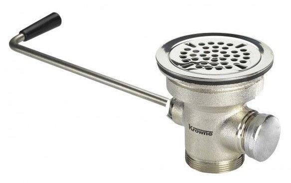 "Waste Drain and Overflow - Royal Series, Stainless Steel, Twist, 3-1/2"" Sink Opening"