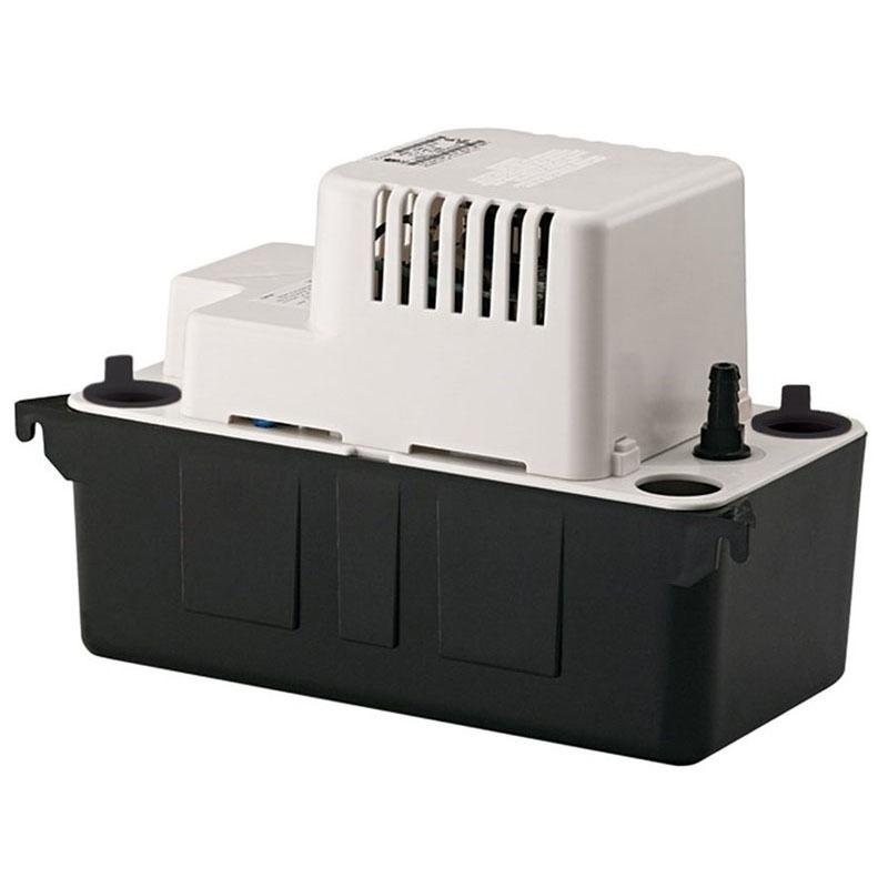 1/2 Gallon 1' to 20' Condensate Pump - ABS, 80 GPH at 1', 115 V