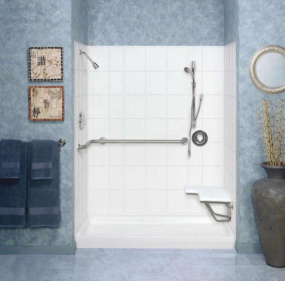 Bifold Door Shower Wall, Obscure