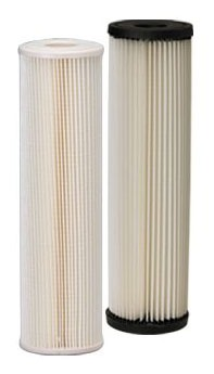 "20 Micron Water Filter Cartridge - Pleated Cellulose, Sediment, 2-5/8"" x 9-3/4"""