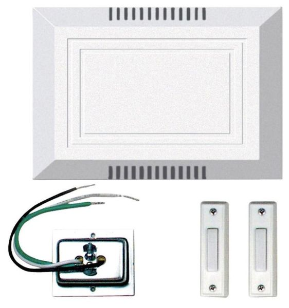 Door Chime Kit, White