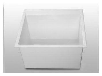 Drop-In / Wall Mount Laundry Sink - SERV-A-SINK, 76 Litre, White
