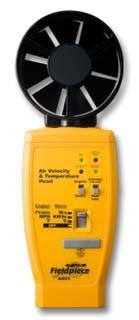 Air Velocity and Temperature Meter Head