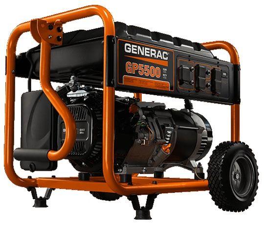 5.5 kW Portable Generator - 45.8/22.9 A, 3600 RPM, Splash, 120/240 V