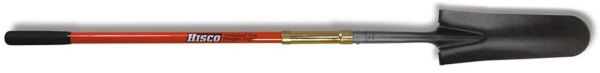 Hollow Back Solid Shank Long Handle Drain Spade/Sharp Shooter, Steel