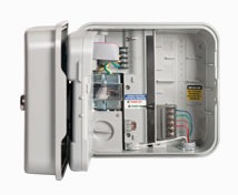 3-Station Sprinkler Controller - AC Powered, Fixed, Plug-In transformer, Plastic Cabinet