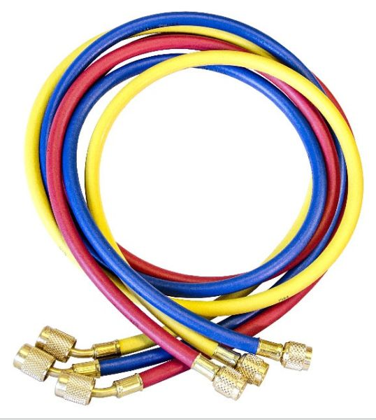 "1/4"" x 60"" Blue / Yellow / Red Nitrile Secure Seal Hose Set - KOBRA, High Pressure"