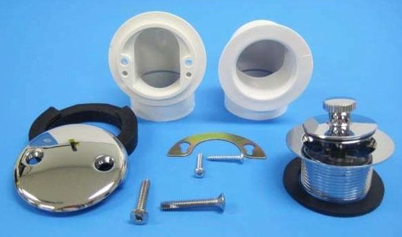 Lift and Turn Bath Waste Half Kit - PVC