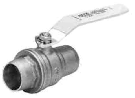 """3/4"""" Forged Brass Full Port Ball Valve - Lever Handle, Soldered, 150 psi SWP, 600 psi CWP"""
