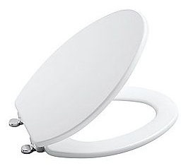 Elongated Toilet Seat - Contemporary, Closed Front, High Density Molded Wood