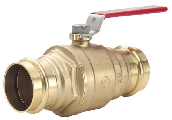 "1"" Forged Brass Full Port Ball Valve - LegendPress, Lever Handle, Press, 500 psi CWP"