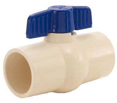 "3/4"" CPVC Full Port Ball Valve - T-Handle, Solvent, 150 psi CWP"