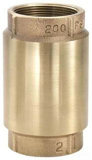 "3/4"" Cast Bronze In-Line Check Valve - FPT, 200 psi CWP"