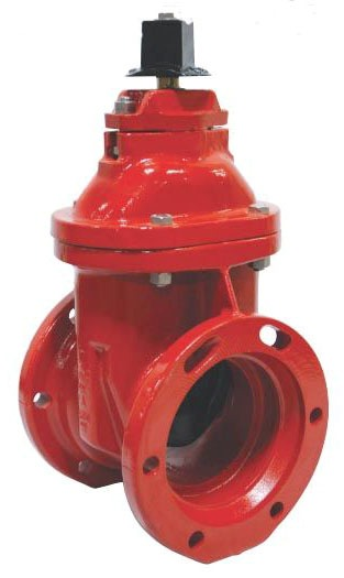 "6"" Epoxy Coated Iron Resilient Wedge Gate Valve - Operating Nut, Mechanical Joint, 250 psi"