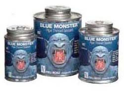 Pipe Thread Sealant with PTFE - Clean-Fit / Blue Monster, Blue, 1 Pint Can