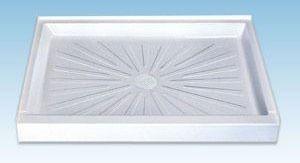 "24"" x 17"" 1-Piece Rectangle Shower Floor - DURABASE, White, Molded Fiberglass"