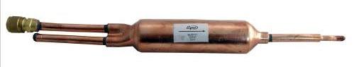 """1"""" Charge Copper Refrigerator Drier - 1/4"""" Compression / Cap x 1/4"""" Compression / Flare, 500 psi"""