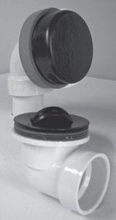 SCH 40 Bath Waste Half / Rough-In Kit - Innovator, PVC, Chrome Plated