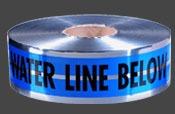 2 X 1000 Premium Water Detectable Underground Warning Tape, Polyester