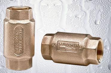 "1-1/2"" Cast Bronze Poppet Check Valve - Enviro, FPT, 400 psi"