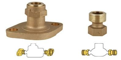 Lead-Free Brass Increasing Meter Adapter