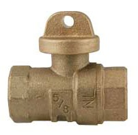 Threaded Curb Stop, Lead-Free Brass