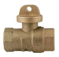 "3/4"" Threaded Curb Stop, Brass"