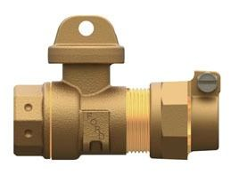 "3/4"" CTS Grip Joint/Threaded Service Valve, Brass"