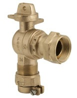 CTS Grip Joint/Meter Swivel Nut Meter Valve, Lead-Free Brass