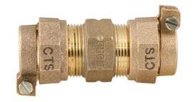 "1"" Brass Straight Coupling"