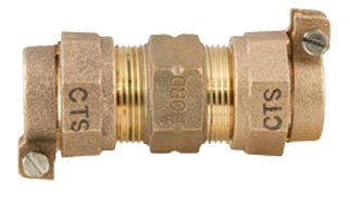"2"" Brass Straight Coupling"