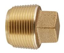 Lead-Free Brass Square Head Raised Plug