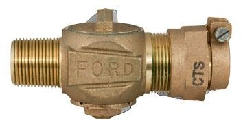 "1"" Threaded/CTS Quick Joint Corporation Stop Valve, Brass"