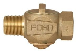 "1"" Threaded Corporation Stop Valve, Brass"
