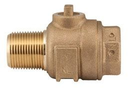 "1-1/2"" Threaded Corporation Stop Valve, Brass"