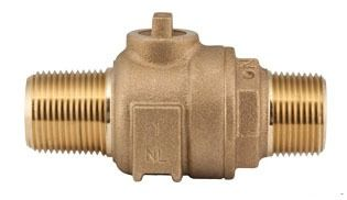 "2"" Threaded Corporation Stop Valve, Brass"