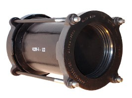 """12"""" Ductile iron Bolted Transition Wide Range Long Pipe Repair Coupling"""