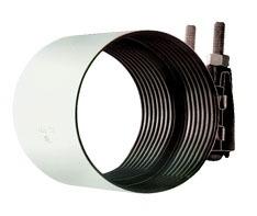 """4"""" 304 Stainless Steel Leak Pipe Repair Coupling"""