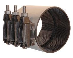 """2"""" 304 Stainless Steel Integral Bell Leak Pipe Repair Coupling"""