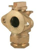 Threaded/Meter Flanged Meter Valve, Lead-Free Brass