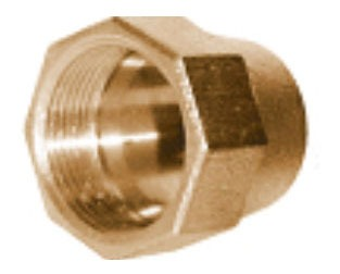 """3/4"""" Brass Alloy Grip Joint Compression Tube Nut"""