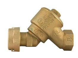 "5/8 X 3/4"" Meter Swivel Nut/Threaded Dual Check Valve, Brass"