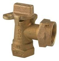 Threaded/Meter Swivel Nut Meter Valve, Lead-Free Brass