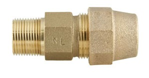Lead-Free Brass Straight 90D Elbow