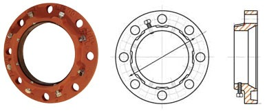Ductile Iron Adapter Flange