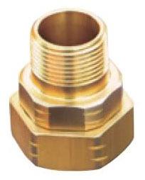 "1"" Brass Straight Adapter - FlashShield, NPT x NPT"