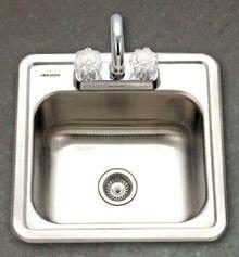 "15 X 15"" Drop-In Mount Bar Sink, 304 Stainless Steel"