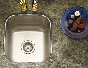 Undermount Single Bowl Bar Sink - CLUB SERIES, 2-Hole, Lustrous Satin, Stainless Steel